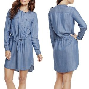 TWO BY VINCE CAMUTO CHAMBRAY SHIRT DRESS!